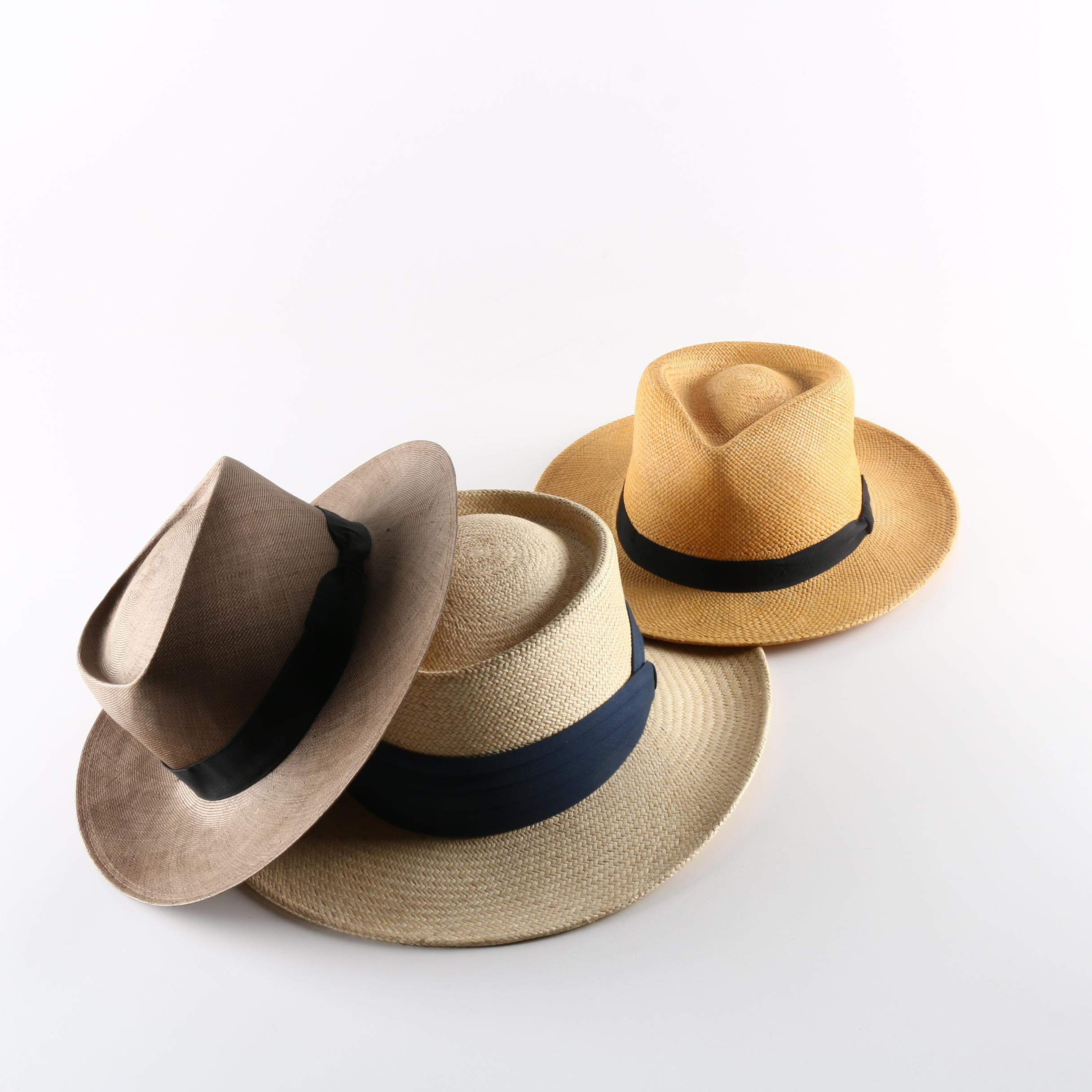 Men's Straw Hats Including Makins for Bergdorf Goodman
