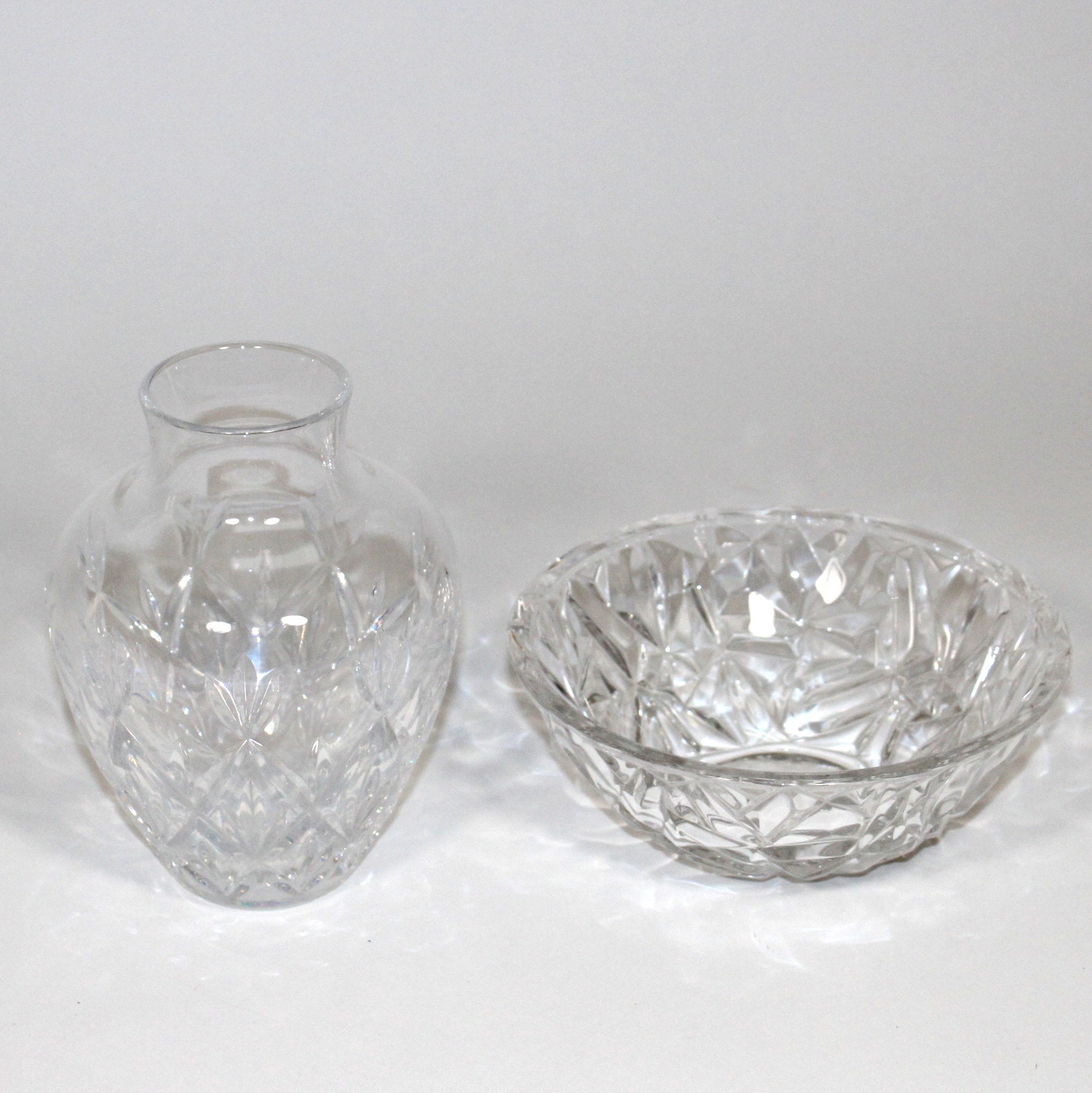Crystal Bowl and Vase by Tiffany & Co.