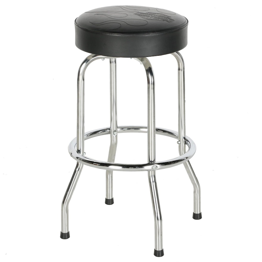 Terrific Contemporary Harley Davidson Bar Stool Squirreltailoven Fun Painted Chair Ideas Images Squirreltailovenorg