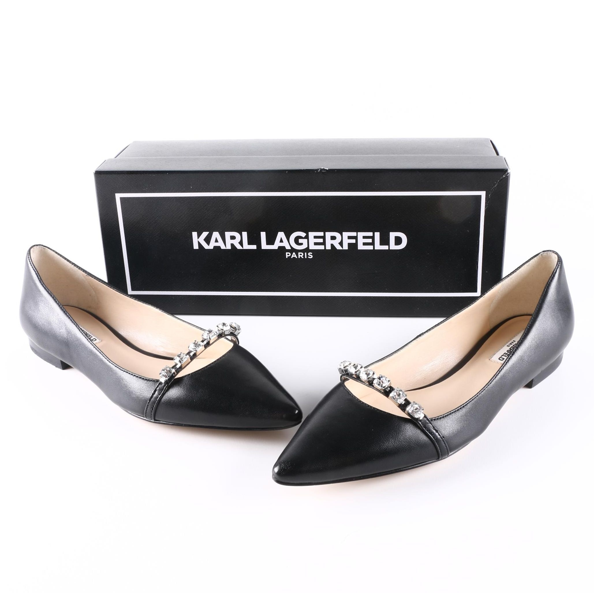 Karl Lagerfeld Leather Flats