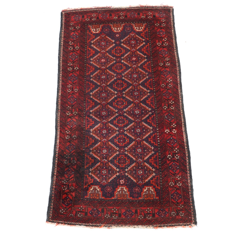 Hand-Knotted Baluch Wool Area Rug