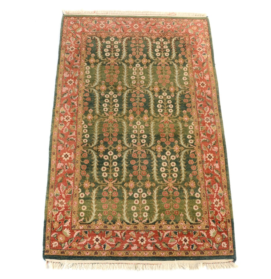 Hand Knotted Persian Style Wool Pile Area Rug