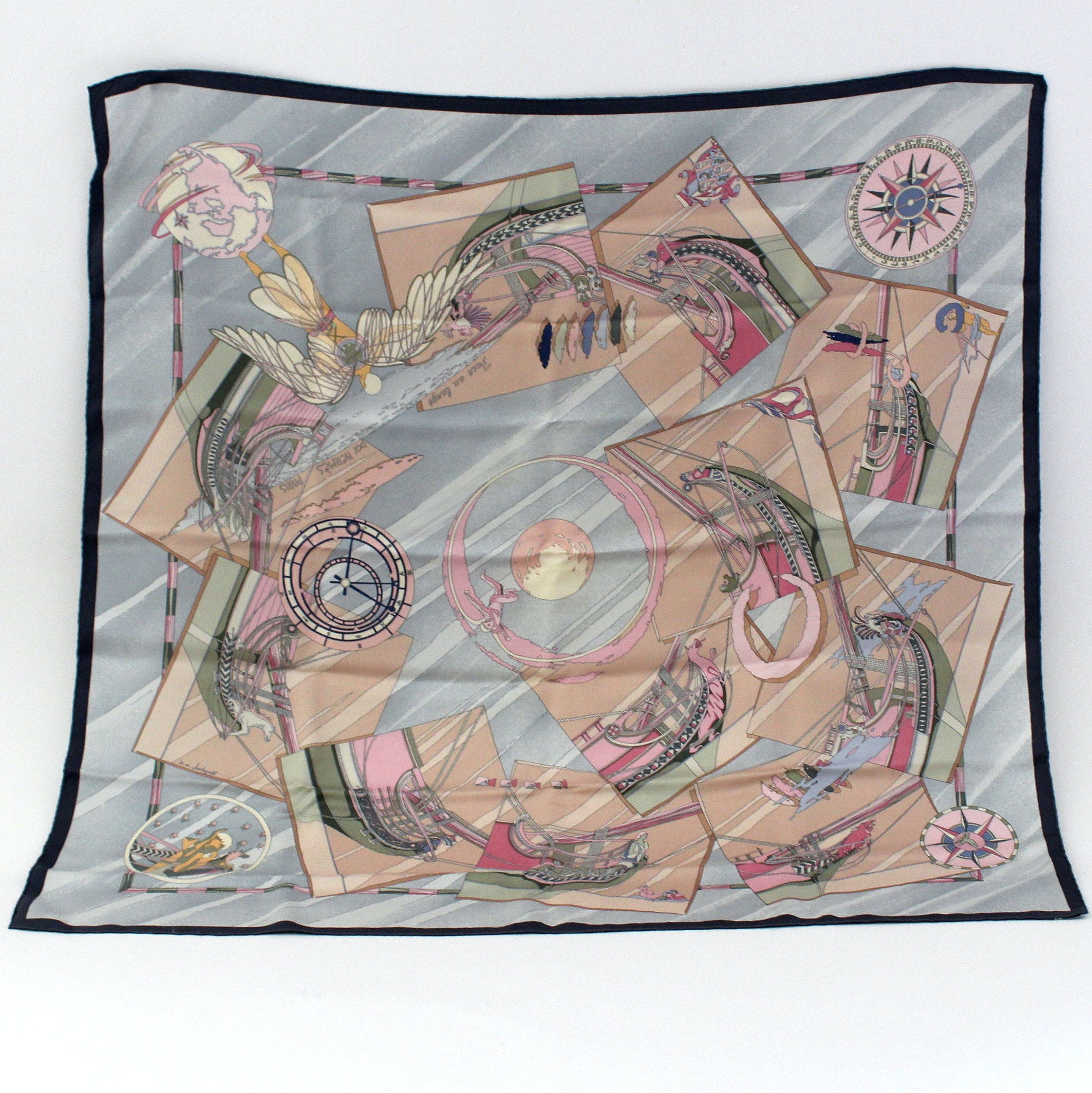 "Hermès ""Face au Large"" Silk Scarf"