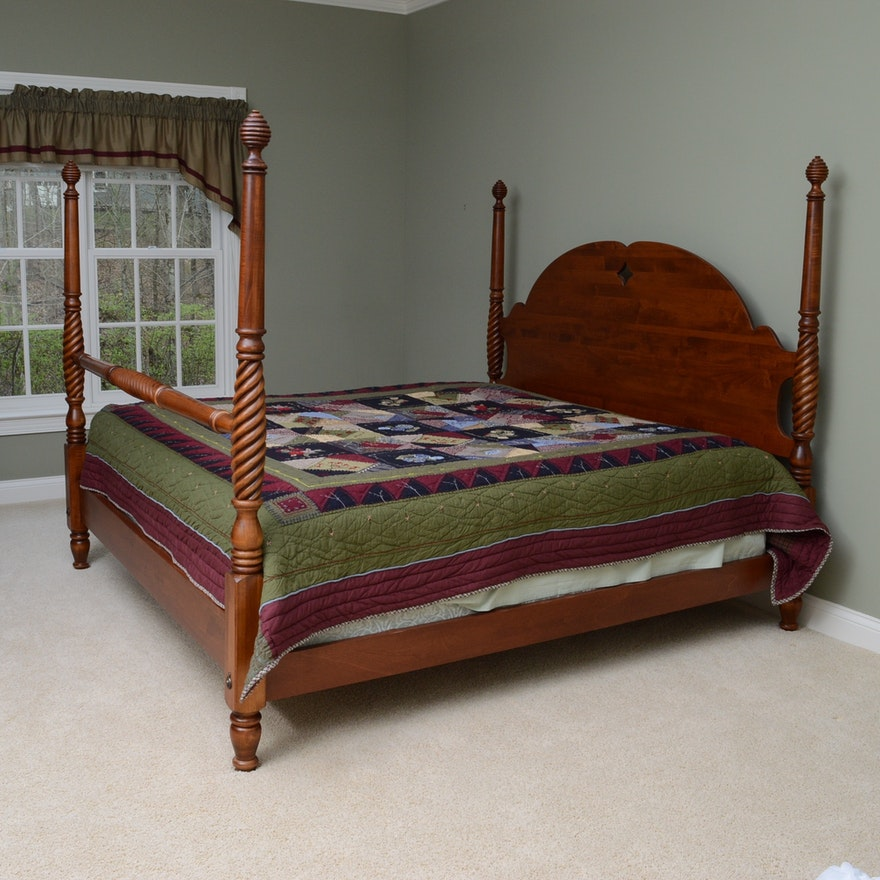 Ethan Allen Country Crossings Four Poster Bed