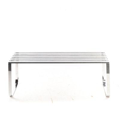 Chrome Slat Bench