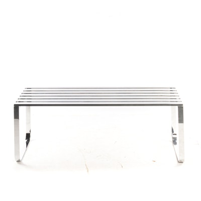 Chrome Slat Bench