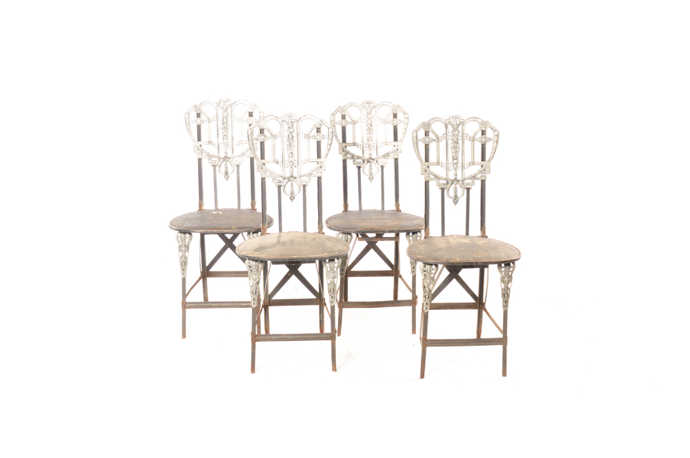 art deco inspired furniture mirrored art deco inspired folding cafe chairs ebth