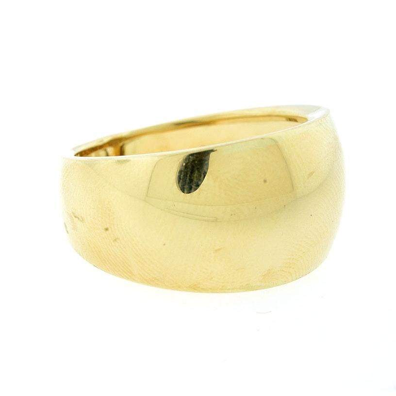 14K Yellow Gold Polished Fashion Ring