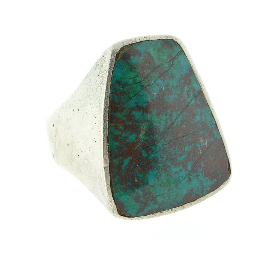 Vintage Sterling and Turquoise Statement Ring