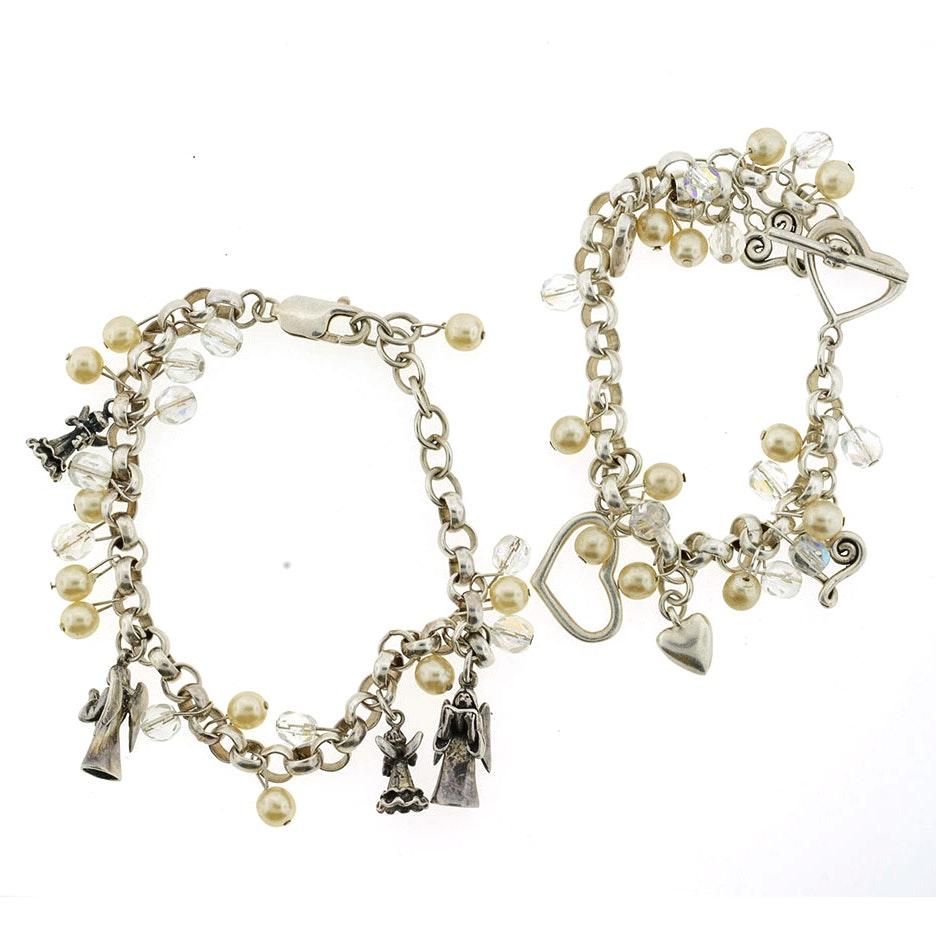 Two Sterling Silver Charm Bracelets