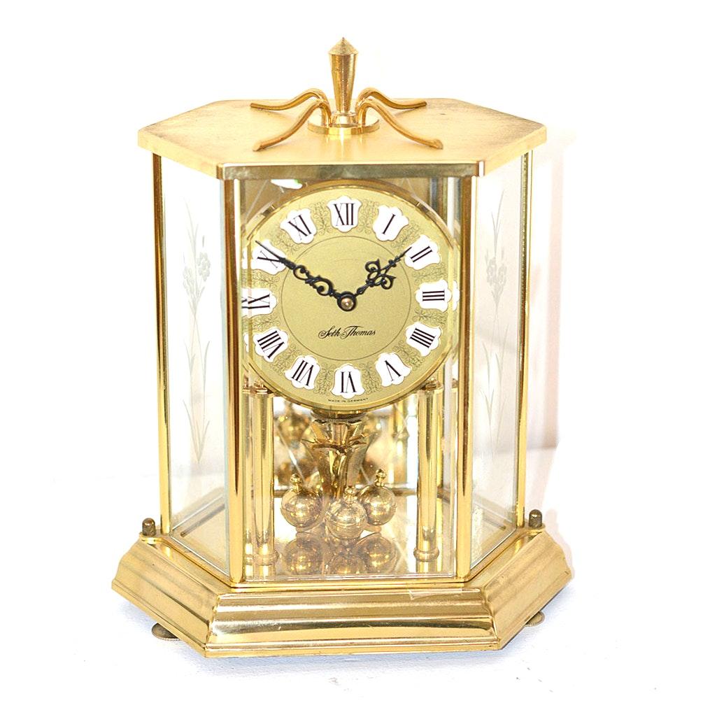 brass seth thomas anniversary clock