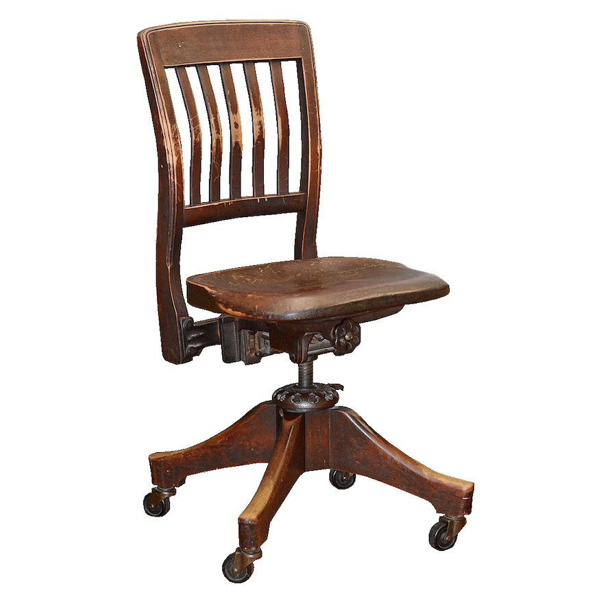 Office Chair Companies: Wooden Office Chair By Milwaukee Chair Company