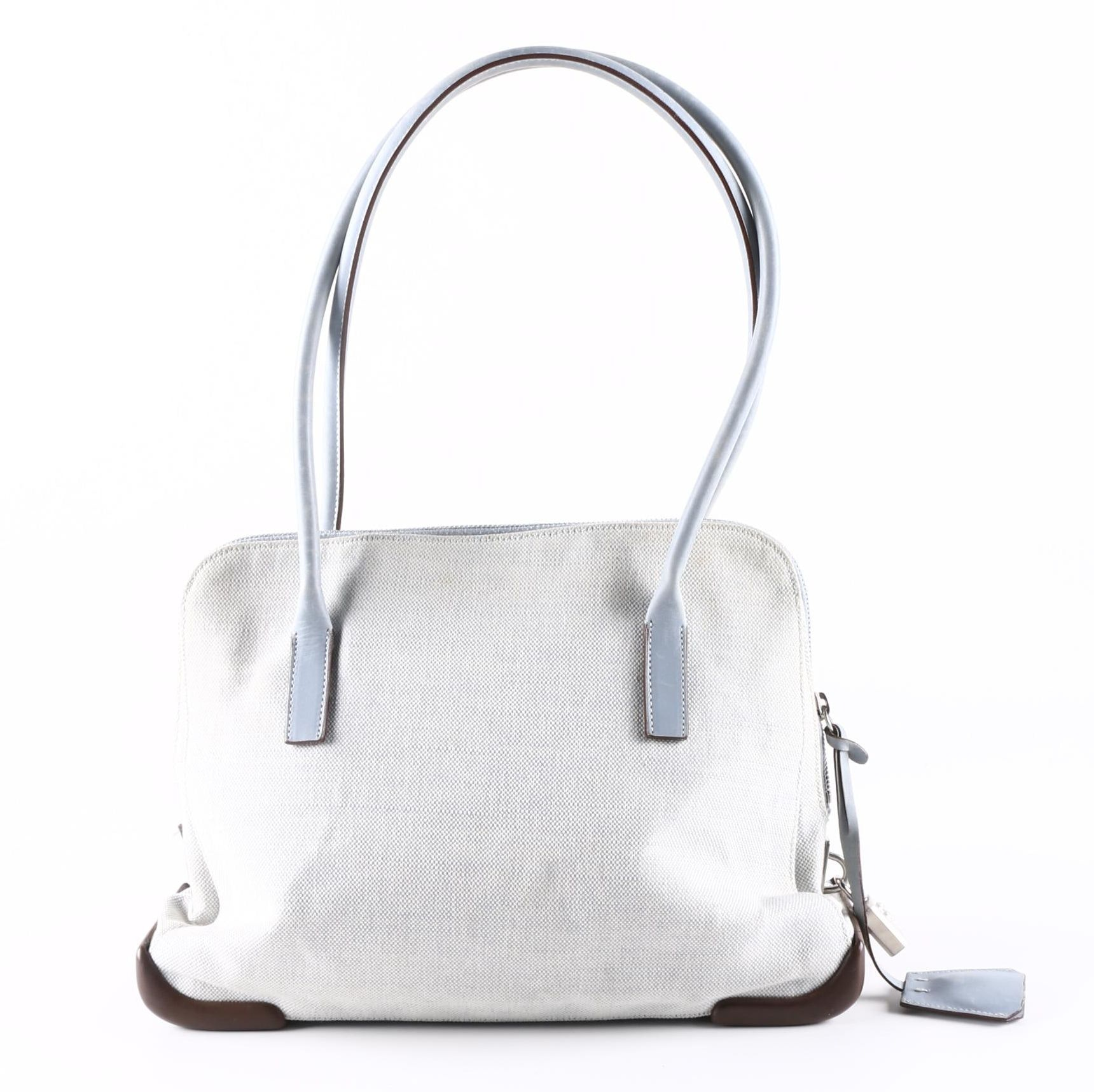 Prada Canvas and Leather Shoulder Tote