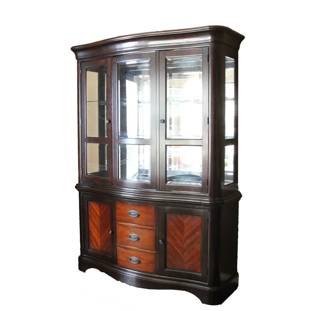 Contemporary Glass-Front China Cabinet