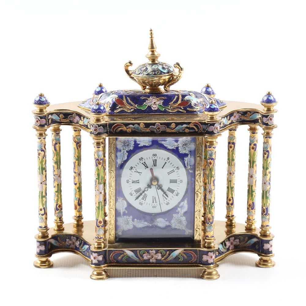 Cloisonné Mantel Clock