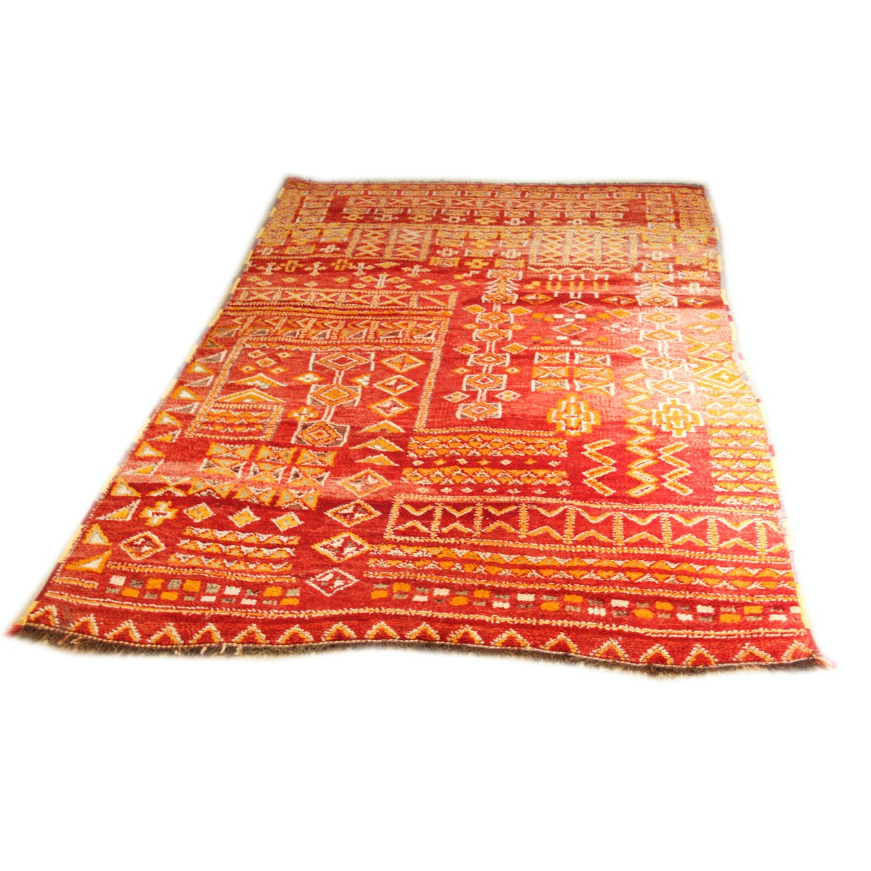 Hand-Knotted Moroccan Area Rug