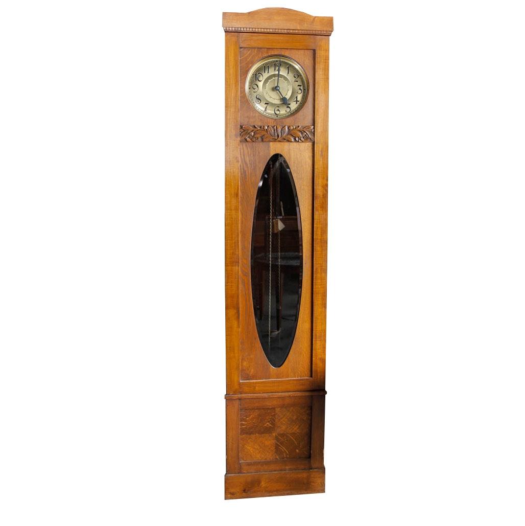 Mid Century German Walnut Grandfather Clock