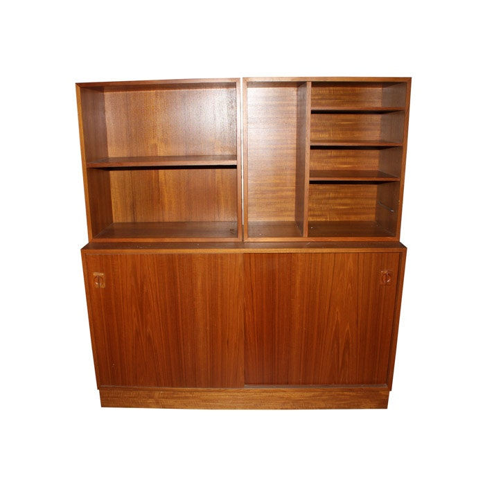 Credenza with Modular Shelving Units