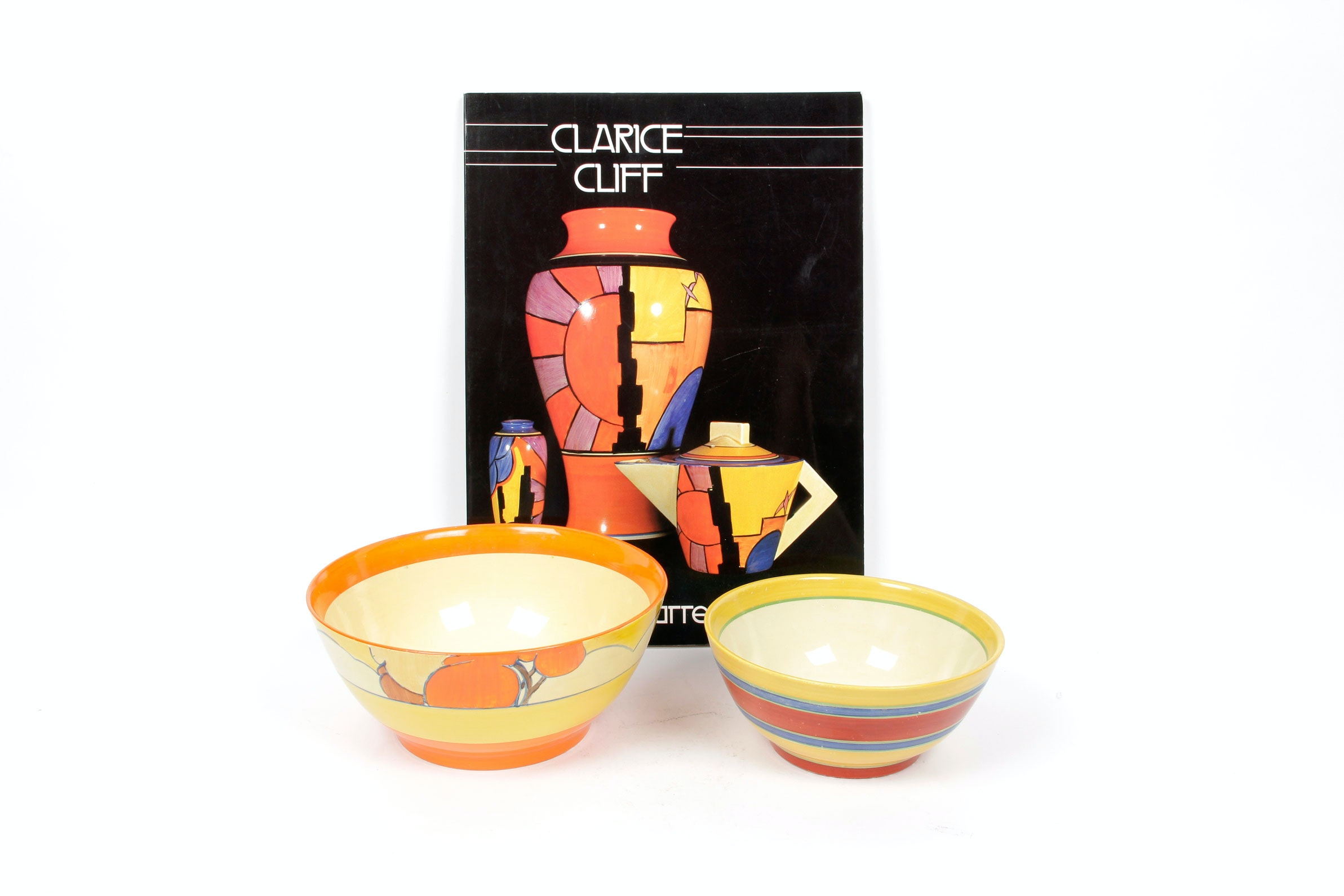 "Hand Painted Newport Pottery ""Bizarre"" by Clarice Cliff"