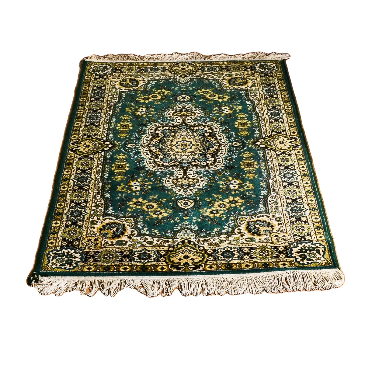 Machine Made Kirman Area Rug