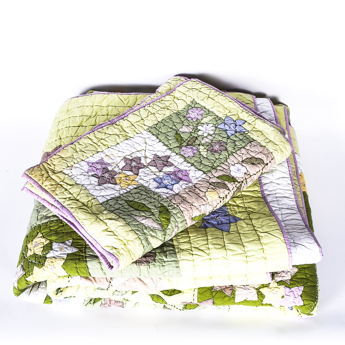 Pottery Barn Full Size Quilt and Pillow Shams
