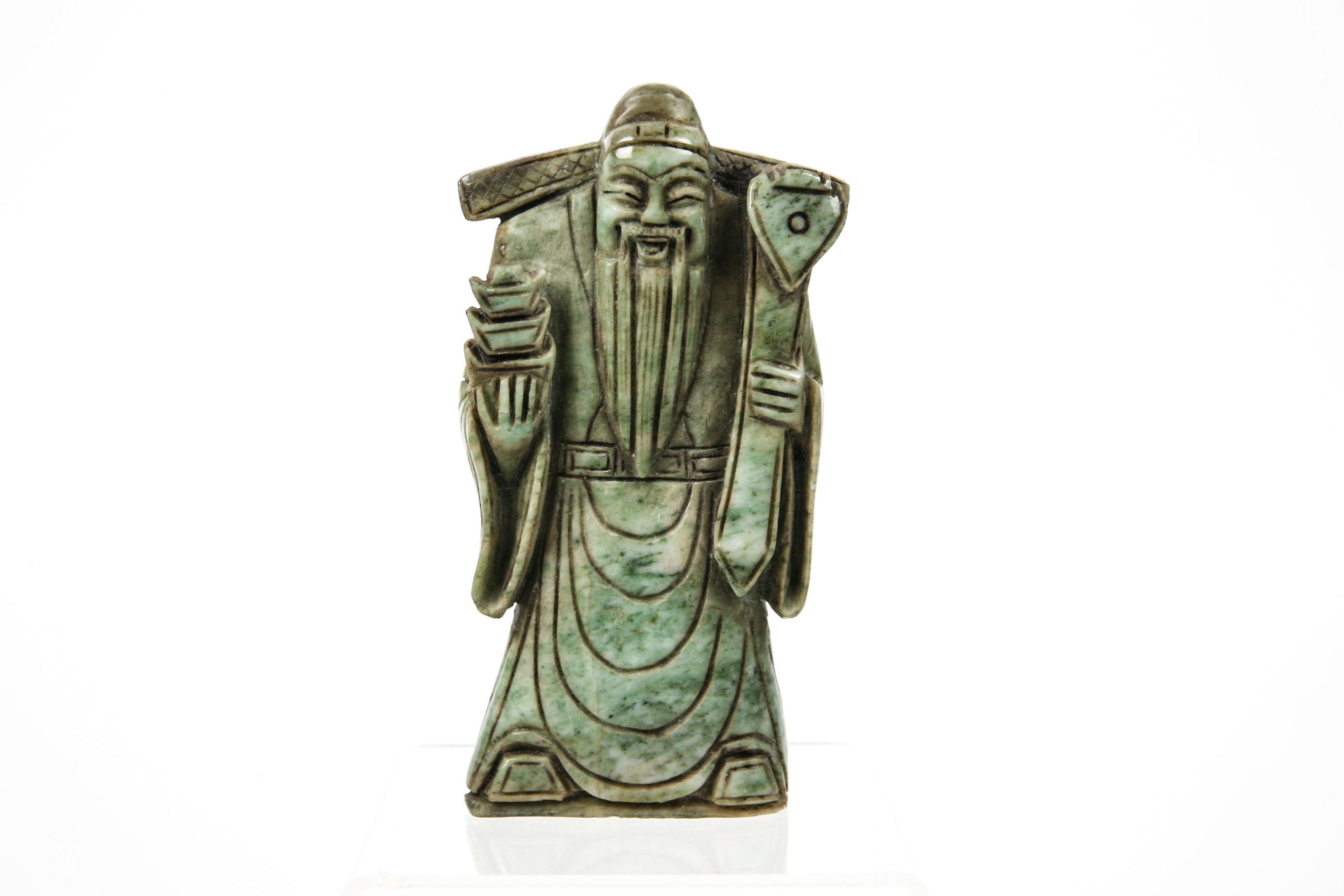 Chinese Nephrite Jade God of Wealth Figurine