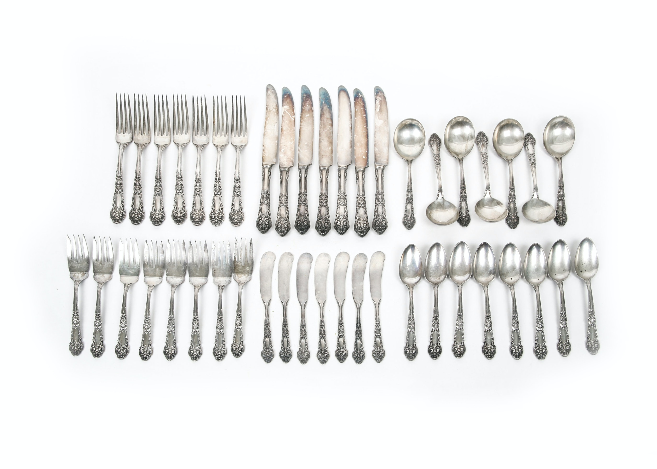 "Reed & Barton ""French Renaissance"" Sterling Silver Flatware Set"
