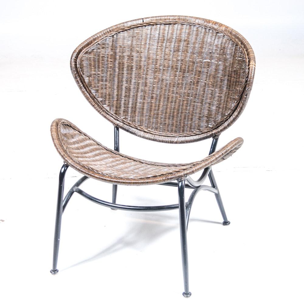EBTHcom Mid Century Modern Rattan Wicker Chair