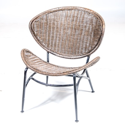 Mid Century Modern Rattan Wicker Chair