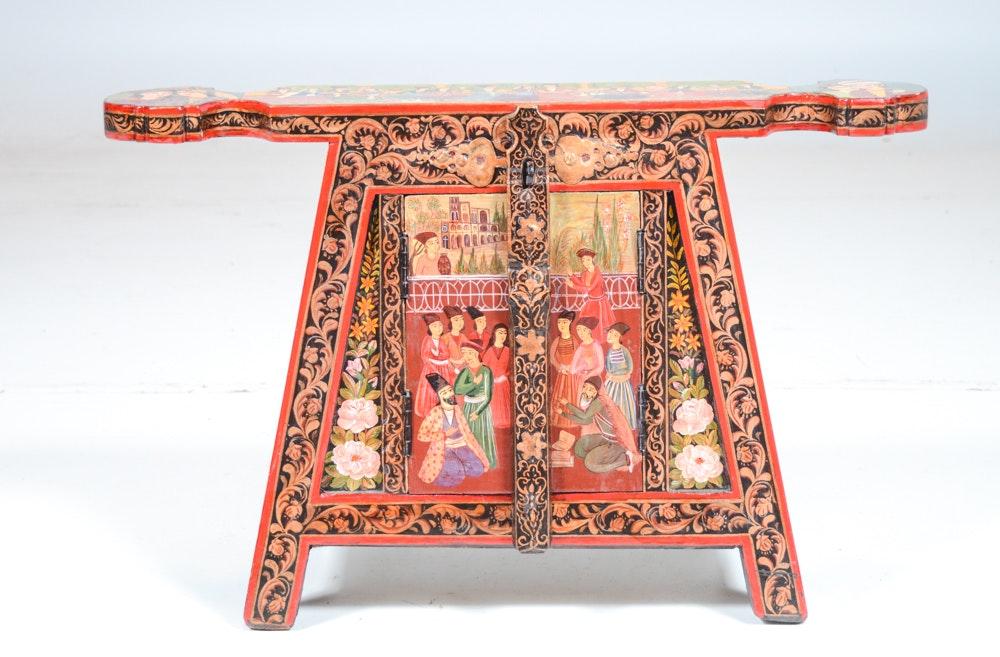 Vintage Wood Dowry Chest Ebth