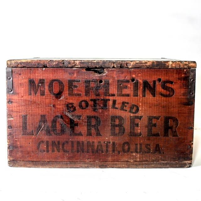 Rare Christian Moerlein Pre Prohibition 36 Bottle Crate