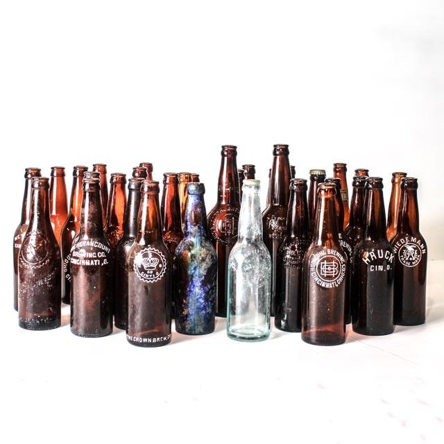 Extensive Collection of Beer Bottles Celebrating Cincinnati's Brewing Legacy