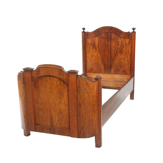 1920s Art Deco Curved Twin Bed