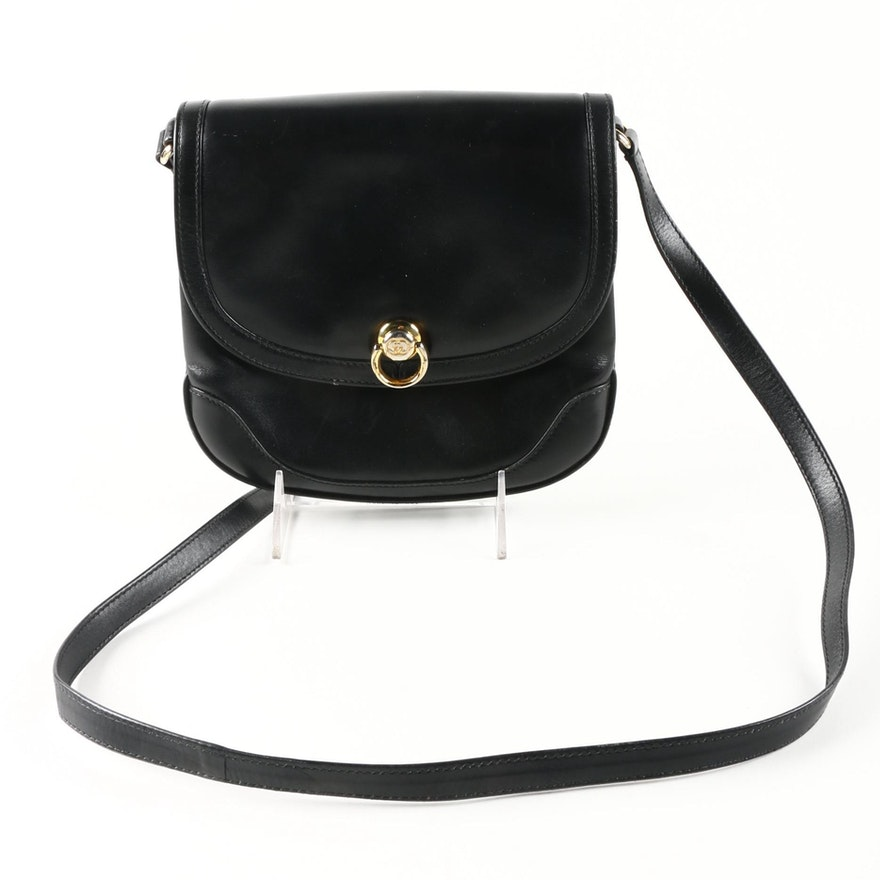 e97b8b91afb Vintage Gucci Boutique Black Leather Crossbody Bag   EBTH