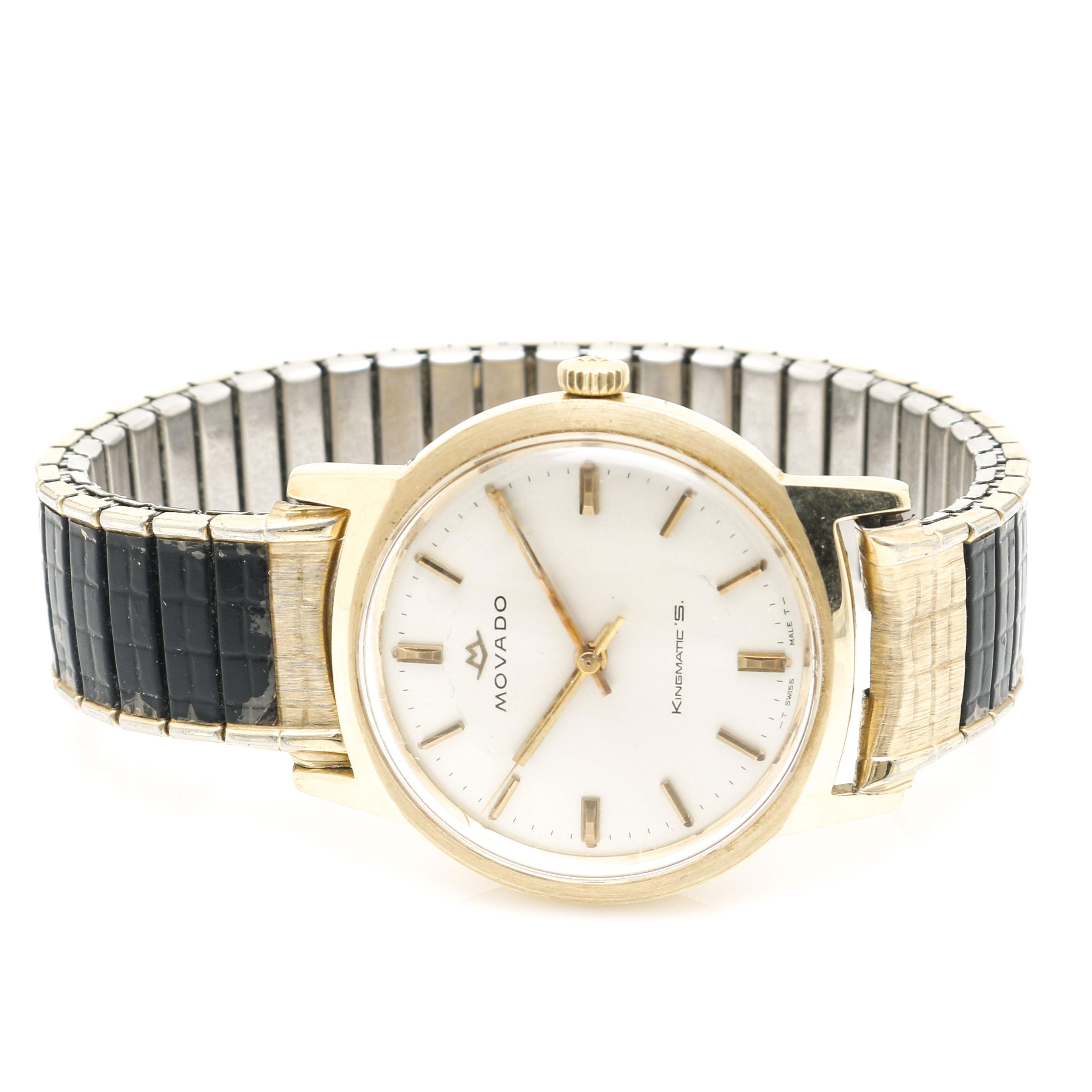 14K Yellow Gold Movado Kingsmatic's Wristwatch