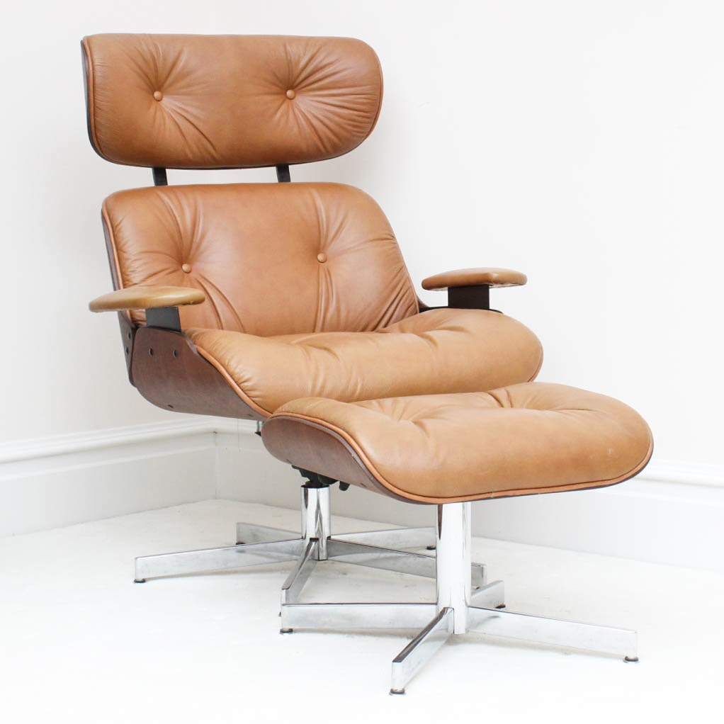 Eames Lounge Style Chair And Ottoman By Selig ...