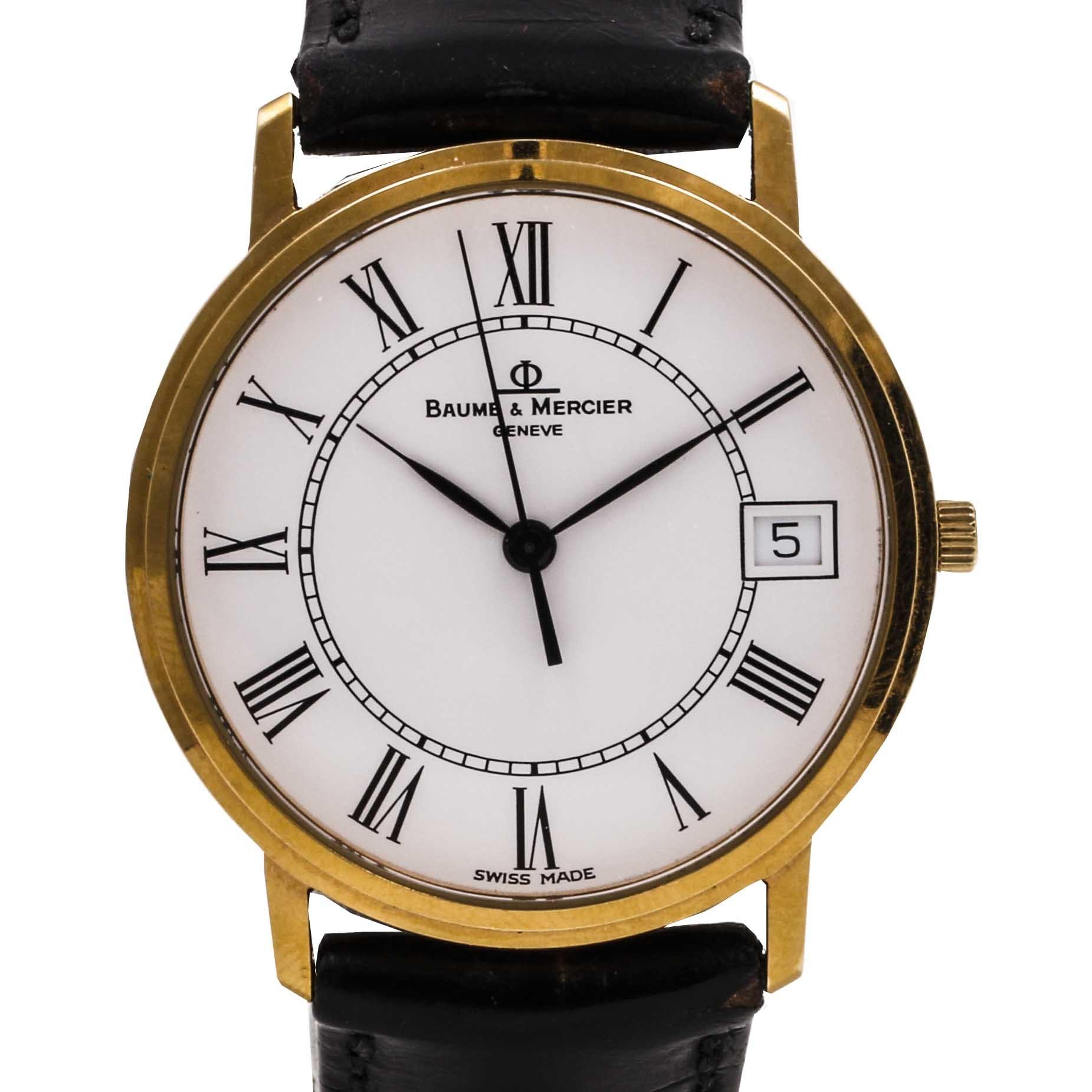 Baume & Mercier Leather Strap Wristwatch
