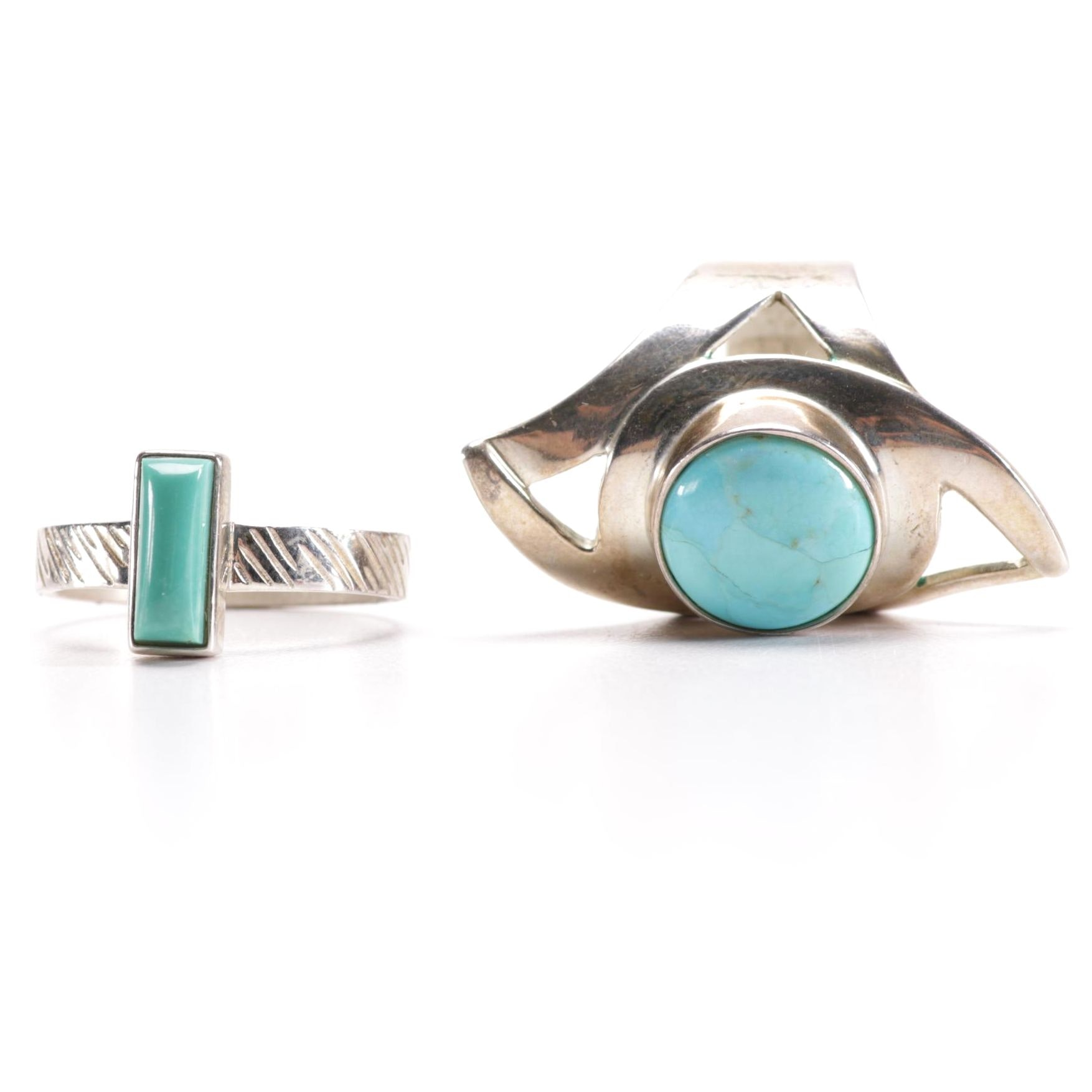 Jay King Sterling Silver Turquoise Rings