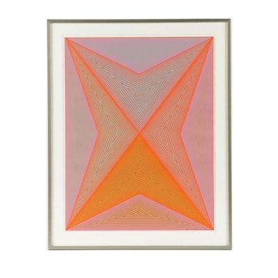 "Richard Anuszkiewicz Limited Edition Serigraph on Paper ""Inward Eye"""