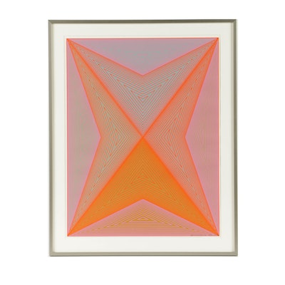 "Richard Anuszkiewicz Limited Edition Serigraph on Paper ""Inward Eye"""
