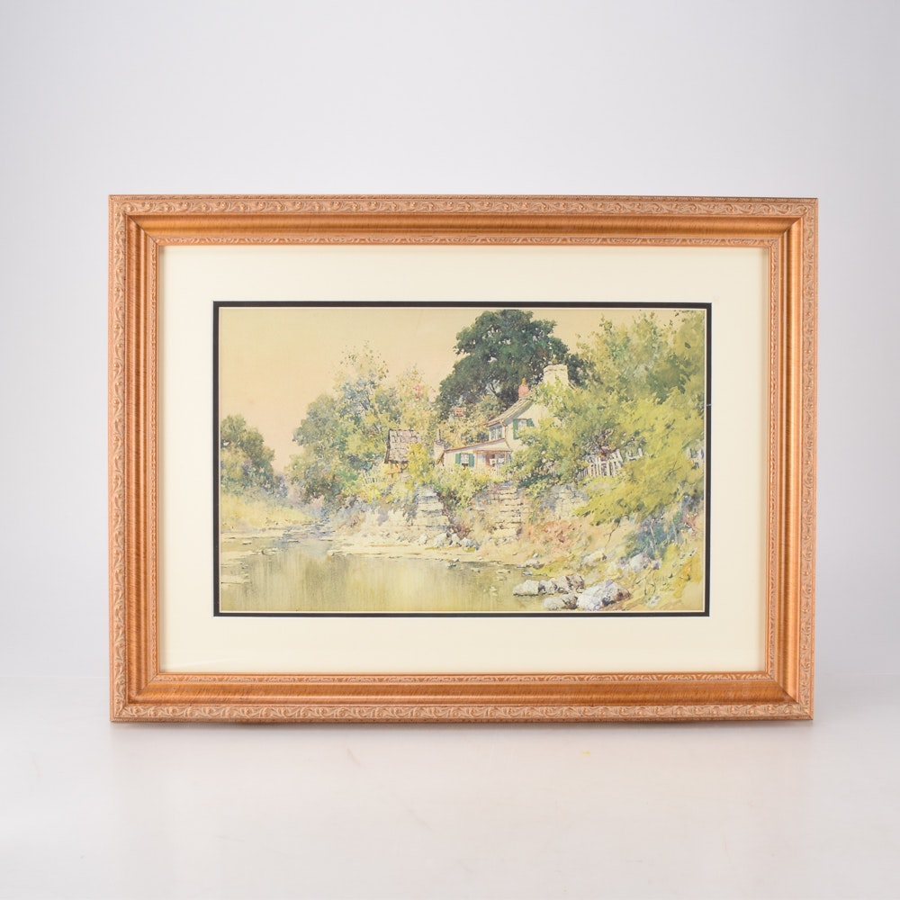 """Paul Sawyier Limited Edition Offset Lithograph """"Dr. Suter's House"""""""