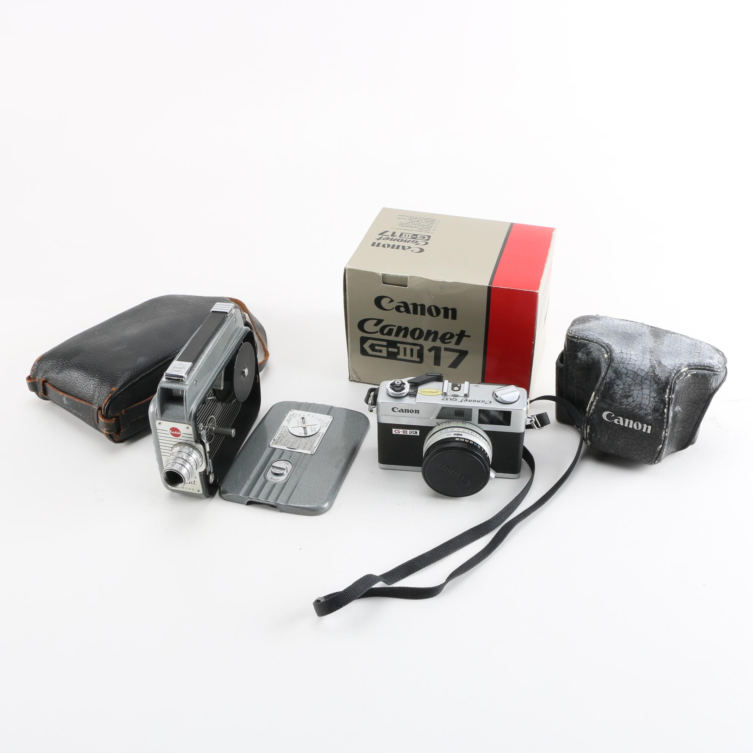 Vintage Kodak and Canon Cameras