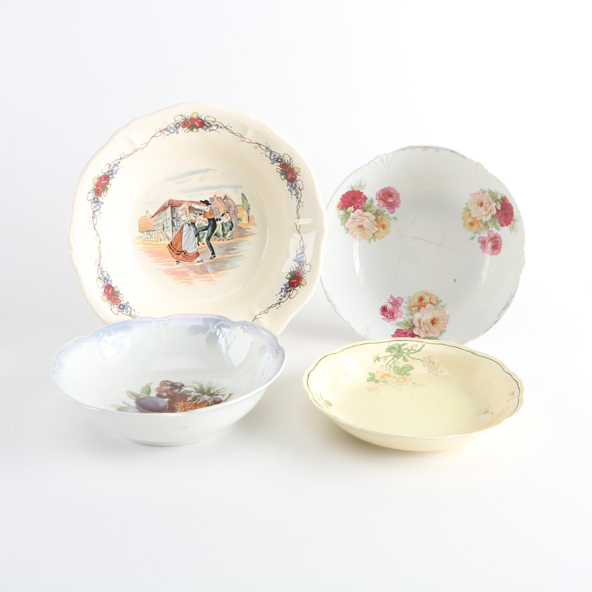Floral and Fruit Bowls