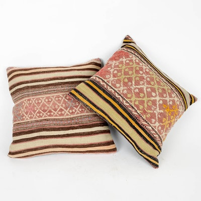 Pair of Decorative Afghan Pillows