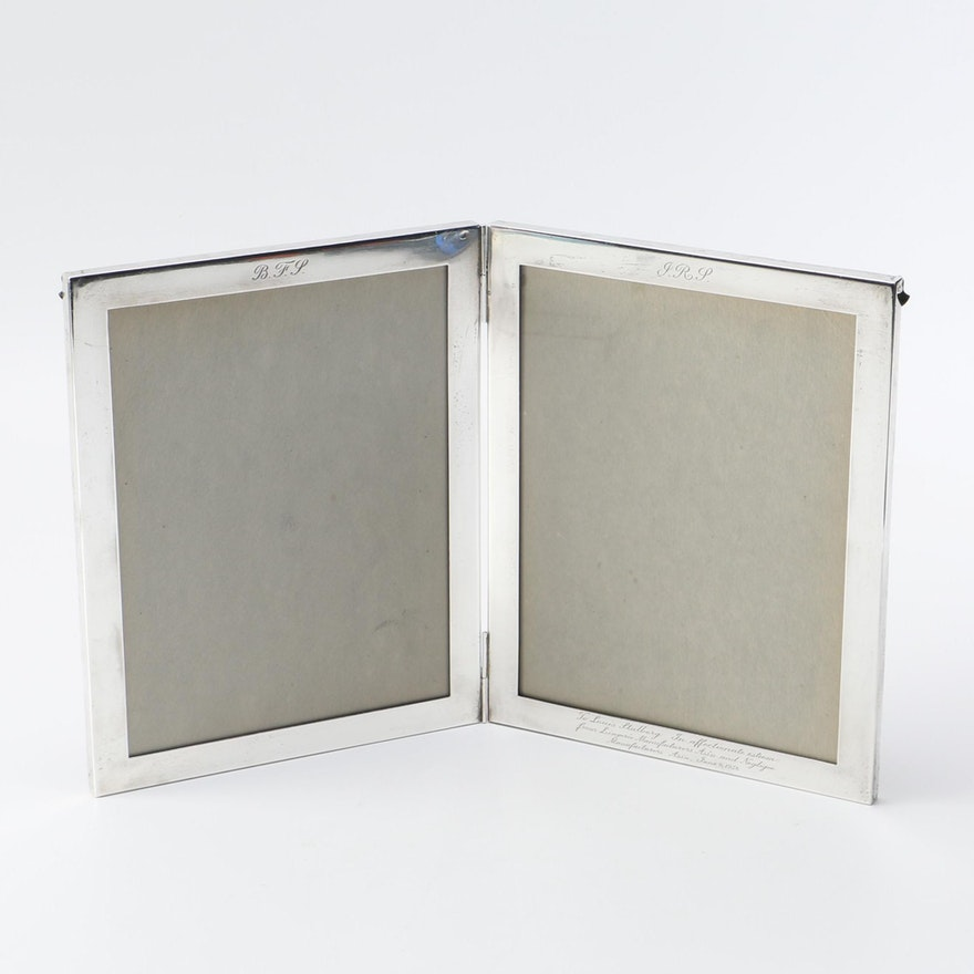 Tiffany Co Sterling Silver Double Picture Frame Ebth