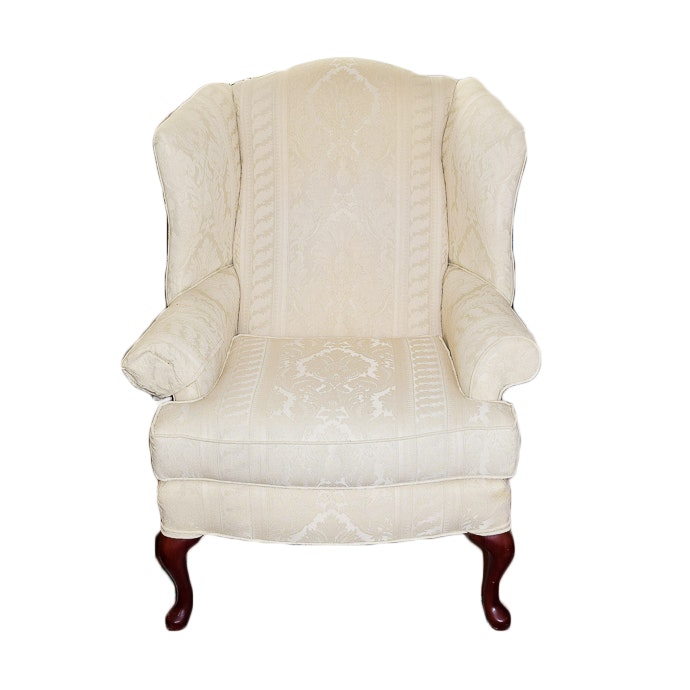 Ivory Wingback Armchair