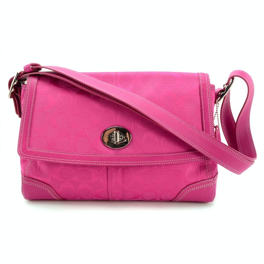 1bfa03cd579 Coach Hampton Signature Flap Convertible Bag   EBTH