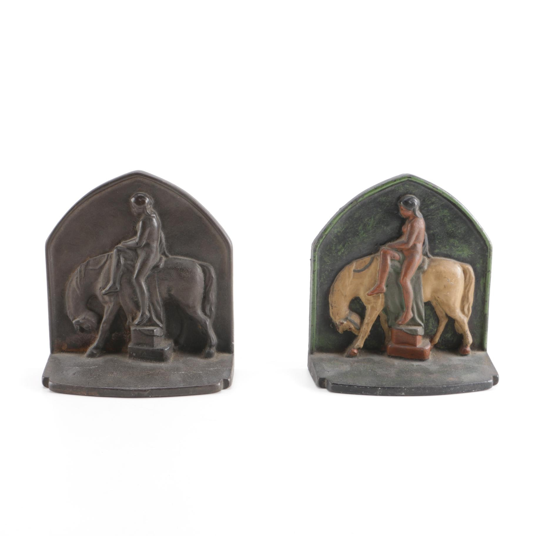 Southwestern-Style Cast Iron Bookends