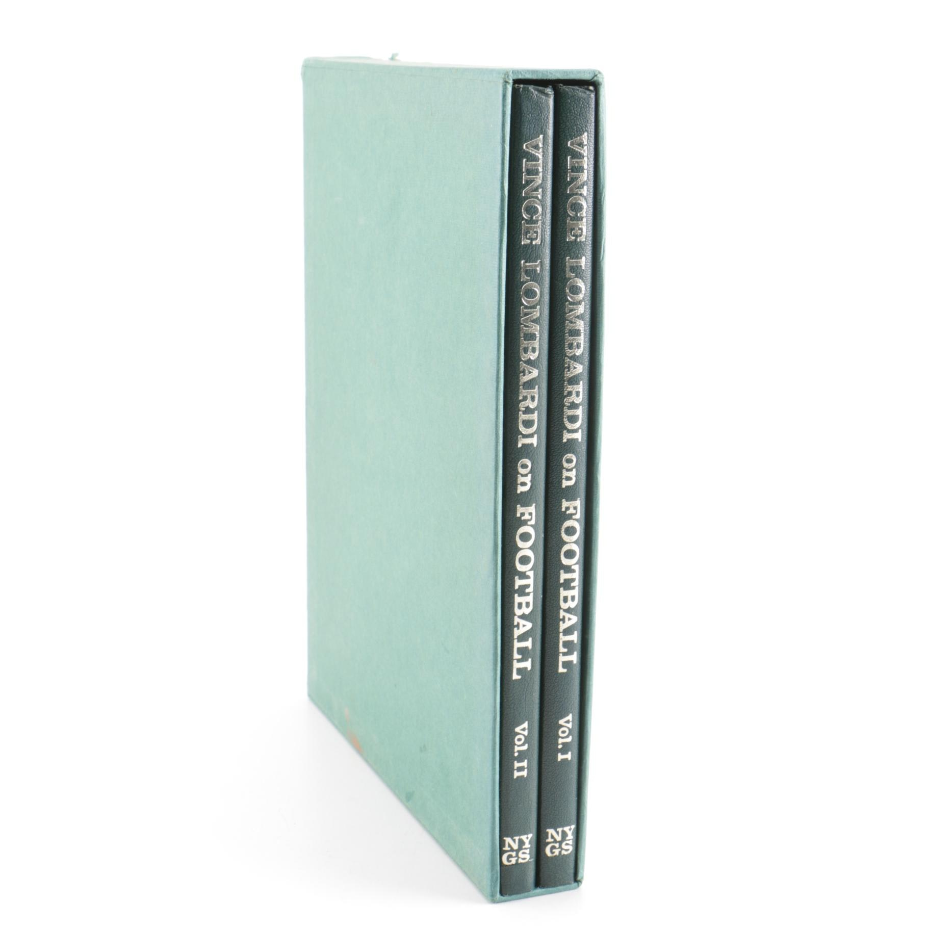 """First Edition """"Vince Lombardi on Football"""" in Two Volumes"""