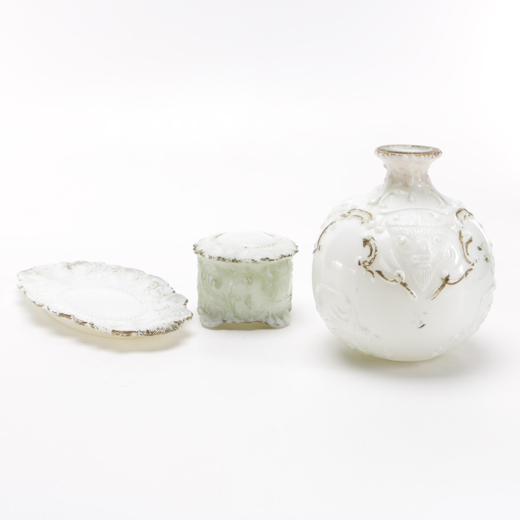 Antique Milk Glass